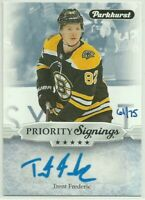 2019 UD Fall Promotion Parkhurst Priority Signings #PS-TF Trent Frederic 61/75