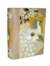 Punch Studio Nesting Book Box Sage Peacock Christmas 61756 medium mini