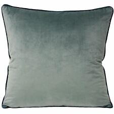 """Suave Lisa Terciopelo Mineral Azul Verde Azulado Tubería 22"""" -55CM Cushion Cover"""