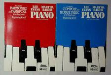 Lee evans Martha Baker piano Fuctional skill Series x2 books 1998 publications
