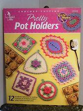 Pretty Pot Holders Annies Crochet Cro-Tat Potholder Pattern 873418 Made c Cotton