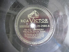 """78rpm 10"""" RCA Victor An Old Sombrero Tex Beneke 20-2584 Dreamy Lullaby 198-5AE"""