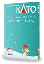 KATO N Operation North Pole F40PH & 5 Commuter Cars w Bookcase 106-2017 1062017