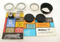 NIKON Nikkor F Zubehör Set accessory selten rare schauen look flash adapter I