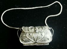 Vintage Solid Sterling Handmade Filigree Clutch - Purse- bag - 1 of a kind -