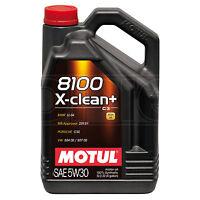 Motul 8100 X-Clean+ 5W-30 5W30 Performance Full Synth Engine Oil - 5 Litres 5L