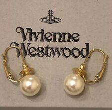 VIVIENNE WESTWOOD MESSALINA CREAM PEARL EARRINGS