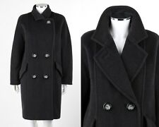 MAX MARA Charcoal Gray Wool Cashmere Double Breasted Lapel Collar Jacket Coat 4