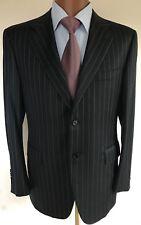 Canali Pin Stripe Suit Size 50 6 C, Please Look Photos For Measurements