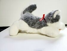 12'Artic Circle Alaska Siberian Husky plush Dog Red collar, Stuffed animal wolf