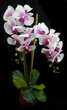 New Artificial Fake Real Touch Potted Phalaenopsis Orchid Pink 66cm H