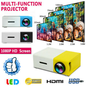 Mini Projector 1080P Full HD Supported HD/M USB PS4 Portable Home Media Player
