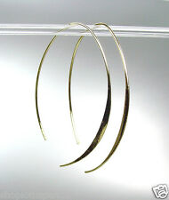CHIC Urban Anthropologie Lightweight Thin Gold Metal Flat Threader Earrings