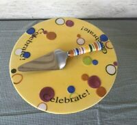 Celebrate Cake Plate Set last one Retired Home Interiors & Gifts / Better Homes