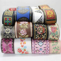 5/10 Yards Retro Chinese Jacquard Ribbon Braid Trim Embroidery Upholstery Craft