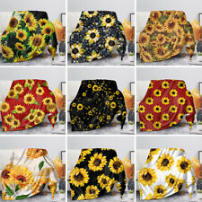 Sunflower Blankets Women Bady Large Blanket Soft Coral Fleece Flannel Sofa Bed