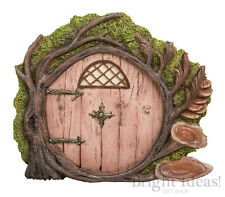 Vivid Arts MINIATURE WORLD FAIRY GARDEN HOME ACCESSORIES  Pink Burrow Fairy Door