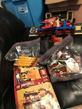 Lego Ninjago Fire Temple 2507 Golden Weapons Used W BOX