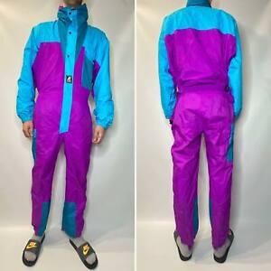 90's Vintage K-way Men's Ski Overalls Multicolour Size M