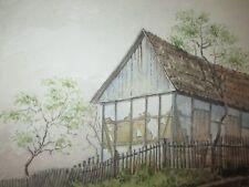 1885 meisterliches AQUARELL geheimer Baurath W. Spehr  Ort : MICHAELSTEIN in ST