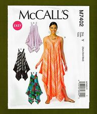 Easy Pullover Dress & Pull On Jumpsuit Sewing Pattern (Sizes XS-M) McCalls 7402