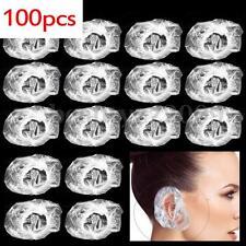 100 Disposable Ear Protector Covers Caps Hair Bath Dye Shower Waterproof Shampoo