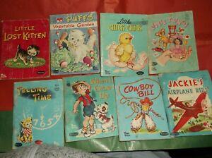 "Vintage Whitman Tiny Tales Books - Lot of 8 Children's Books 3""x4"""
