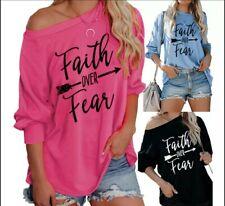 Faith Over Fear Long sleeve Women Shirt