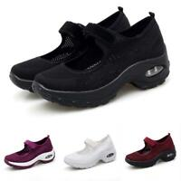 Women Nursing Mary Jane Breathable Casual Chunky Heel Athletic Preppy Shoes Pump
