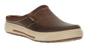 SKECHERS Cool, Comfortable Relaxed Memory Foam Slip Ons in Brown