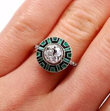 1.85CT Art Deco Vintage White Round Cut Engagement 925 Sterling Silver Ring+GIFT