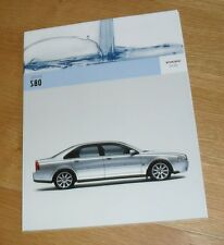 Volvo S80 Brochure 2005 - SE & Executive