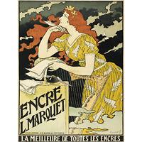 Grasset Marquet Ink Nouveau Vintage Advert Extra Large Art Poster