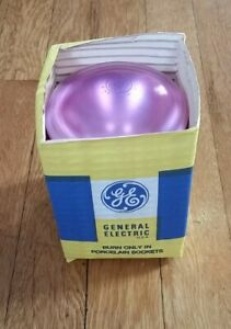 GE Pink Reflector Flood Lamp 75W Incandescent Bulb WORKING