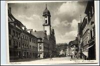 KAUFBEUREN Bayern um 1930/40 Kaiser Max Strasse Häuser Gebäude Geschäfte alte AK