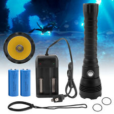 30w 2nd Xhp70 LED Scuba Diving Flashlight Dimming Underwater Waterproof Torch