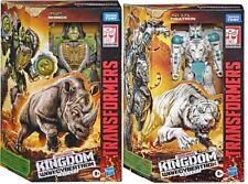 "Transformers Wfc Kingdom 7"" Figure Voyager Set of 2 Tigatron Rhinox In Stock"