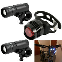 Fahrradbeleuchtung LED Fahrradlicht Fahrradlampe Set 204°Rücklicht USB Aufladbar
