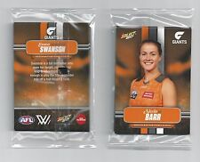 2017 Select AFL W GWS Greater Western Women's Team Set 7 cards (Sealed Mint AFLW