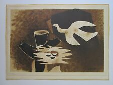 1958 GEORGES BRAQUE LITHOGRAPH RARE  ABSTRACT CUBISM LIMITED EDITION VINTAGE