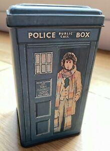 Vintage Doctor Who TARDIS Money Box Tin - Tom Baker -  Fourth Doctor - 1980