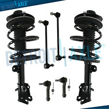 New Complete Front Quick Struts + 2 Sway Bar Links + 2 Outer Tie Rod Links