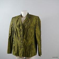 Elegant. Gerry Weber Da. Blazer Jacke grün schimmernd Gr. 44 Luxus Pur