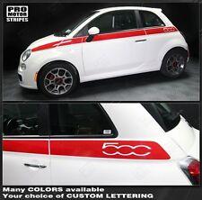 Fiat 500 Upper Body Side Stripes 2007 2008 2009 2010 2011 2012 2013 2014