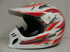 THH T-551 MOTORCROSS HELMET #2 WHITE WITH RED AND SILVER (XXS) DOT APPROVED
