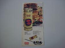 advertising Pubblicità 1962 OLIO DI SEMI OIO