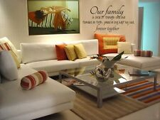OUR FAMILY CIRCLE Wall Art Vinyl Decal Lettering Words Stencil Sticker Quote 48""