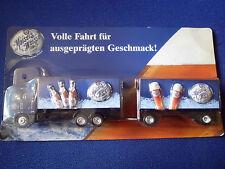 Modello modellino autocarro MAN Rimorchio per trasporto birra Maisels Bianco