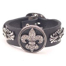 Callashop Handmade Chrome Style Boy Scouts Biker Emo Punk Rock Leather Bracelet