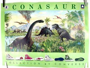 RARE 1987 CONVERSE Chuck Taylor Conasaur Shoe Collection Poster 17 x 23 USA